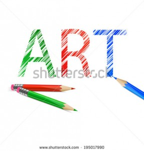 stock-vector-art-word-drawn-with-green-red-and-blue-pencils-illustration-on-white-background-195017990