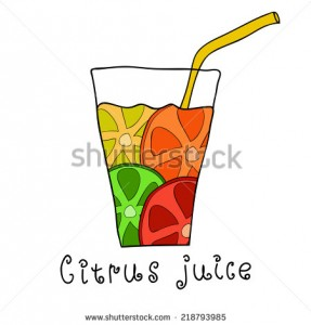 stock-vector-doodle-citrus-juice-with-straw-mix-of-orange-lemon-lime-and-grapefruit-218793985