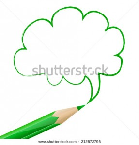 stock-vector-green-speech-bubble-in-cloud-shape-drawn-with-pencil-on-white-background-212572795