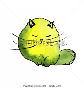 stock-vector-watercolor-cute-yellow-cat-isolated-vector-illustration-original-hand-drawn-painting-266134892